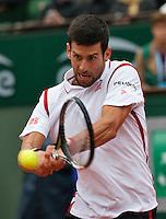 Paris, France, 31 June, 2016, Tennis, Roland Garros, Novak Djokovic (SRB) <br /> Photo: Henk Koster/tennisimages.com