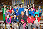 Barradubh NS who were confirmed by Bishop Bill Murphy in Glenflesk on Monday front row l-r: Daoina Courtney, Seamus O'Leary, Patrick Darcy, Alanna Friel. Middle row: Cathal O'Shea, Siobhain Looney, Pat Sheehan, Trevor Cremin, Jamie O'Shea, Maureen O'Rahilly Back row: Claire O'Halloran Principal, Aoife Kelliher, Alan Murphy, Brian Friel, Gearoid O'Leary, Imelda Kelly and Mark Kelleher..