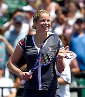 Kim CLIJSTERS (BEL) against Venus WILLIAMS (USA) in the final of the women singles. Kim Clijsters beat Venus WIlliams 6-2 6-1..International Tennis - 2010 ATP World Tour - Sony Ericsson Open - Crandon Park Tennis Center - Key Biscayne - Miami - Florida - USA - Wed 24 Mar 2010..© Frey - Amn Images, Level 1, Barry House, 20-22 Worple Road, London, SW19 4DH, UK .Tel - +44 20 8947 0100.Fax -+44 20 8947 0117