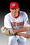 25 February 2007: Washington Nationals pitcher Joel Hanrahan poses for his Photo Day portrait at Space Coast Stadium in Viera, Florida.<br /> <br /> Mandatory Photo Credit: Ed Wolfstein Photo<br /> <br /> Note: This image is available in a RAW (NEF) File Format - contact Photographer.