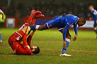 Tempers flare with Aaron Hayden of Carlisle United and Ollie Palmer of Crawley Town during Crawley Town vs Carlisle United, Sky Bet EFL League 2 Football at Broadfield Stadium on 15th February 2020
