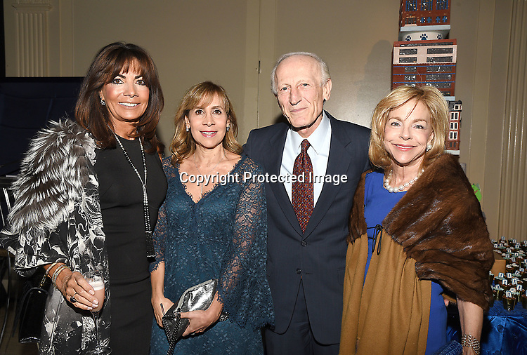 Vicki Rother, Carol Weiss, Dr Richard Soghoian and Nanette Rosenberg attends the Columbia Grammar & Prep School 2017 Benefit on March 8, 2017 at Cipriani Wall Street in New York, New York.