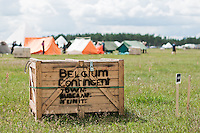 A package for the Belgium contingent is waiting for the scouts that it is ment for. Photo: Audun Ingebrigtsen/Scouterna