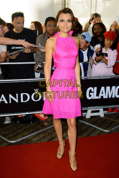 Samantha Barks<br /> The Glamour Women Of The Year Awards 2013, Berkeley Square Gardens, London, England.<br /> June 4th, 2013<br /> full length pink sleeveless dress gold shoes <br /> CAP/CJ<br /> &copy;Chris Joseph/Capital Pictures