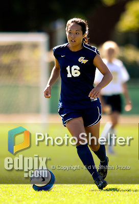 2 September 2007: George Washington University Colonials' Keara Mehlert, a Junior from Chevy Chase, MD, in action against the University of Vermont Catamounts at Historic Centennial Field in Burlington, Vermont. The Colonials rallied to defeat the Catamounts 2-1 in overtime during the TD Banknorth Soccer Classic...Mandatory Photo Credit: Ed Wolfstein Photo