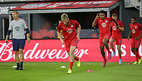 WASHINGTON D.C. - OCTOBER 11: Tim Ream #13 of the United States during warm up prior to their Nations League game versus Cuba at Audi Field, on October 11, 2019 in Washington D.C.