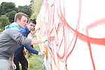 Locals, Michael Conroy and Sean Rooney at the 2010 Graffiti Jam under the Bridge of Peace in Drogheda. ..Picture Jenny Matthews/Newsfile.ie