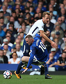9th September 2017, Goodison Park, Liverpool, England; EPL Premier League Football, Everton versus Tottenham; Harry Kane of Tottenham and Wayne Rooney of Everton tangle in midfield
