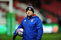 Bath Rugby first team coach Darren Edwards looks on during the pre-match warm-up. European Rugby Challenge Cup match, between Bristol Rugby and Bath Rugby on January 13, 2017 at Ashton Gate Stadium in Bristol, England. Photo by: Patrick Khachfe / Onside Images