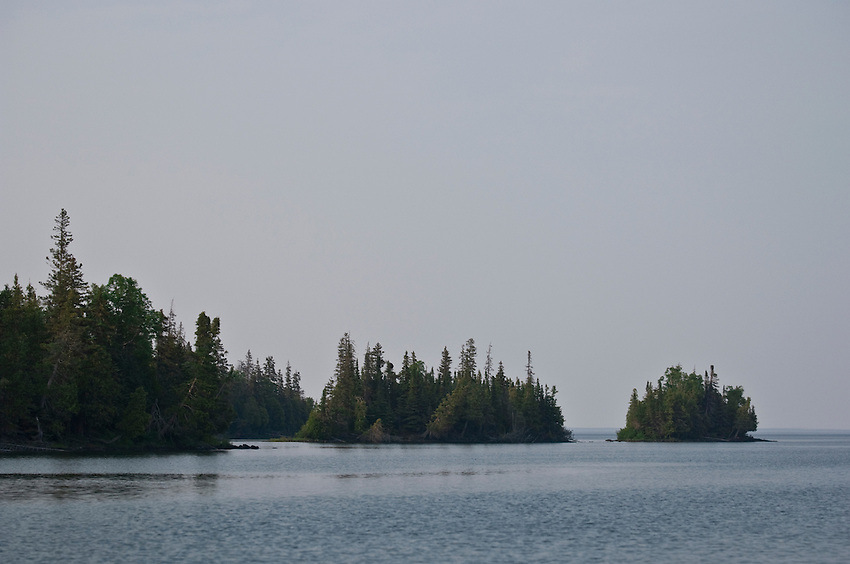 Lake Superior islands at Isle Royale National Park.