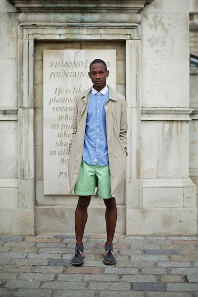 DaShaun Hightower at London Fashion Week