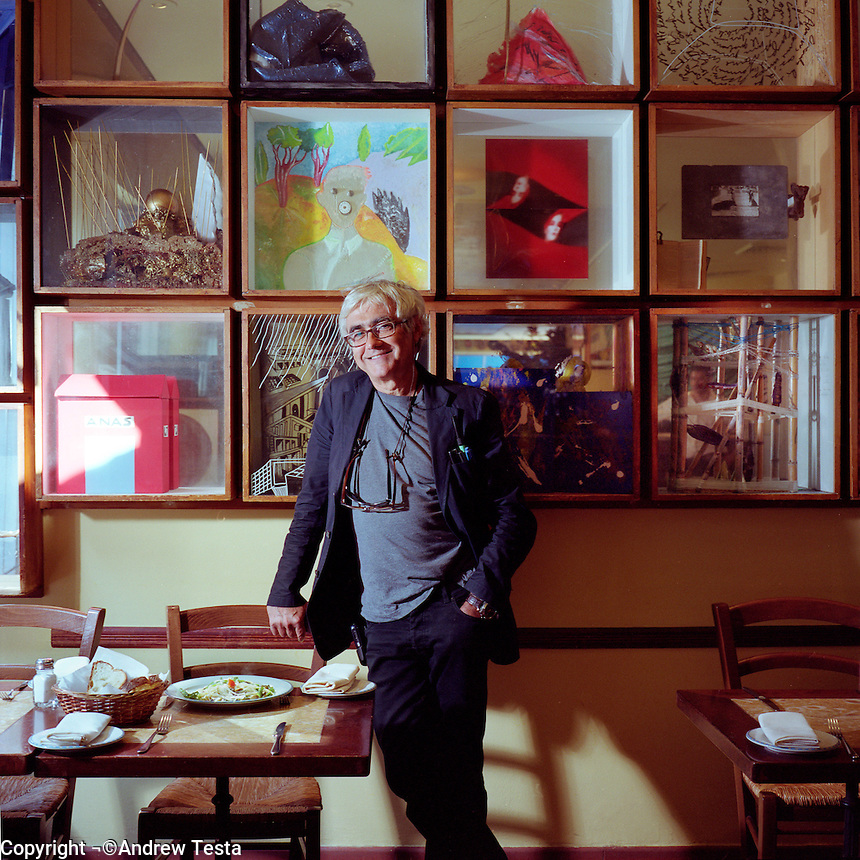 USA. New York. 4th September 2007..Rafael Vinoly at Mezzogiorno in Manhattan..©Andrew Testa