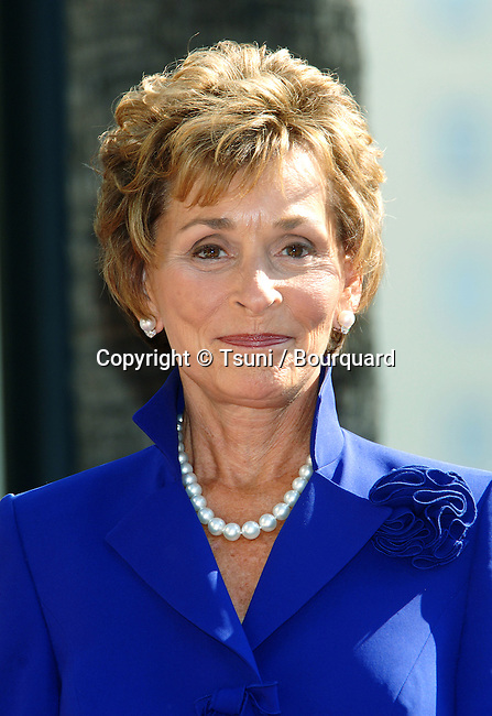 Judge Judy Sheindlin 10th season celebration and star on the Hollywood walk of Fame In Los Angeles. February 14, 2006.