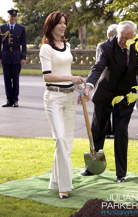 Crown Prince Frederik & Crown Princess Mary of Denmark visit Australia..Planting two trees at Government House, Hobart..