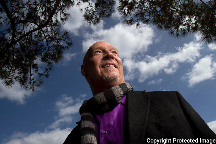 San Diego broadcast journalism personality Loren Nancarrow looks forward as he continues to battle with cancer in February of 2013. photo for U-T San Diego.