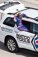 Oct 29, 2016; Las Vegas, NV, USA; NHRA top fuel driver Antron Brown during qualifying for the Toyota Nationals at The Strip at Las Vegas Motor Speedway. Mandatory Credit: Mark J. Rebilas-USA TODAY Sports