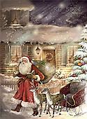Interlitho, Patricia, CHRISTMAS SANTA, SNOWMAN, nostalgic, paintings, santa, sleigh, house(KL5534,#X#) Weihnachten, nostalgisch, Navidad, nostálgico, illustrations, pinturas