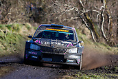 10th February 2019, Galway, Ireland; Galway International Rally; Desi Henry and Liam Moynihan (Skoda Fabia R5) lie in 7th position after 3 stages