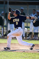 February 28, 2010:  Second Baseman Anthony Toth of the Michigan Wolverines during the Big East/Big 10 Challenge at Raymond Naimoli Complex in St. Petersburg, FL.  Photo By Mike Janes/Four Seam Images