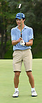 Gordon Walker with the Bellerive Country Club reacts after missing a putt on the fifth green. They were among about 50 golfers competing on the first day of the Metropolitan Amateur Golf Association's 20th Junior Amateur Championship being held at the St. Clair Country Club in Belleville, IL on July 1, 2019. <br /> Tim Vizer/Special to STLhighschoolsports.com