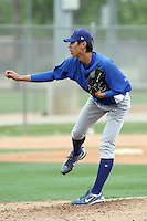 Tzu-An Wang of the Chicago Cubs participates in intrasquad spring training games at the Cubs complex on March 21, 2011  in Mesa, Arizona. .Photo by:  Bill Mitchell/Four Seam Images.