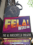 Theatre Marquee at the opening night of the Broadway limited engagement of 'Fela!' at the Al Hirschfeld Theatre on July 12, 2012 in New York City.