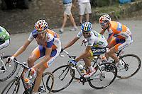 Robert Gesink (l), Alberto Contador (c) and Laurens Ten Dam during the stage of La Vuelta 2012 between La Robla and Lagos de Covadonga.September 2,2012. (ALTERPHOTOS/Paola Otero) /NortePhoto.com<br /> <br /> **CREDITO*OBLIGATORIO** <br /> *No*Venta*A*Terceros*<br /> *No*Sale*So*third*<br /> *** No*Se*Permite*Hacer*Archivo**<br /> *No*Sale*So*third*