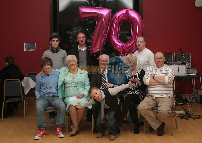 Ann Smith with her family at her 70th in The Thatch...(Photo credit should read Jenny Matthews www.newsfile.ie)....This Picture has been sent you under the conditions enclosed by:.Newsfile Ltd..The Studio,.Millmount Abbey,.Drogheda,.Co Meath..Ireland..Tel: +353(0)41-9871240.Fax: +353(0)41-9871260.GSM: +353(0)86-2500958.email: pictures@newsfile.ie.www.newsfile.ie.