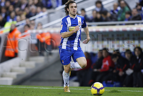 "Joan Verdu (Espanyol), .JANUARY 30, 2010 - Football : .Spanish ""Liga Espanola"" match between Espanyol and Athletic Bilbao at Cornella-El Prat stadium in Barcelona, Spain. .Photo: D.Nakashima/Actionplus UK Editorial Only"