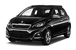 2016 Peugeot 108 Allure 5 Door Micro Car Angular Front stock photos of front three quarter view