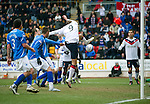 St Johnstone v Rangers...14.01.12  .Nikica Jelavic scores the second goal.Picture by Graeme Hart..Copyright Perthshire Picture Agency.Tel: 01738 623350  Mobile: 07990 594431