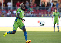 August 10, 2013: Seattle Sounders FC forward Eddie Johnson #7 in action during an MLS regular season game between the Seattle Sounders and Toronto FC at BMO Field in Toronto, Ontario Canada.<br /> Seattle Sounders FC won 2-1.
