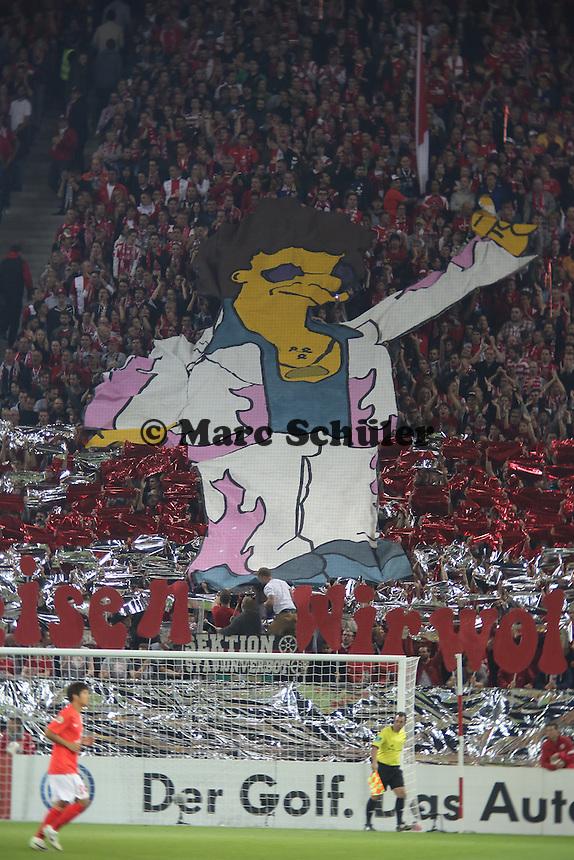 Choreographie der Mainzer Fans - 1. FSV Mainz 05 vs. 1. FC Köln, Coface Arena, 2. Runde DFB-Pokal