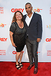 Actress Aida Turturro and Michael Houston of Grey arrive at the Grey Centennial Gala at Madison Square Park in New York City on May 18, 2017.