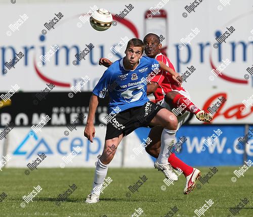 2009-05-31 / Voetbal / R. Antwerp FC - FC Dender / David Destorme (L, Dender) met Ray Frankel..Foto: Maarten Straetemans (SMB)