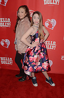 "LOS ANGELES - JAN 30:  Aubrey Anderson-Emmons, Kitana Turnbull at the ""Hello Dolly!"" Los Angeles Opening night at the Pantages Theater on January 30, 2019 in Los Angeles, CA"