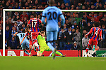 Sergio Aguero of Manchester City scores his sides third goal - Manchester City vs. Bayern Munich - UEFA Champion's League - Etihad Stadium - Manchester - 25/11/2014 Pic Philip Oldham/Sportimage