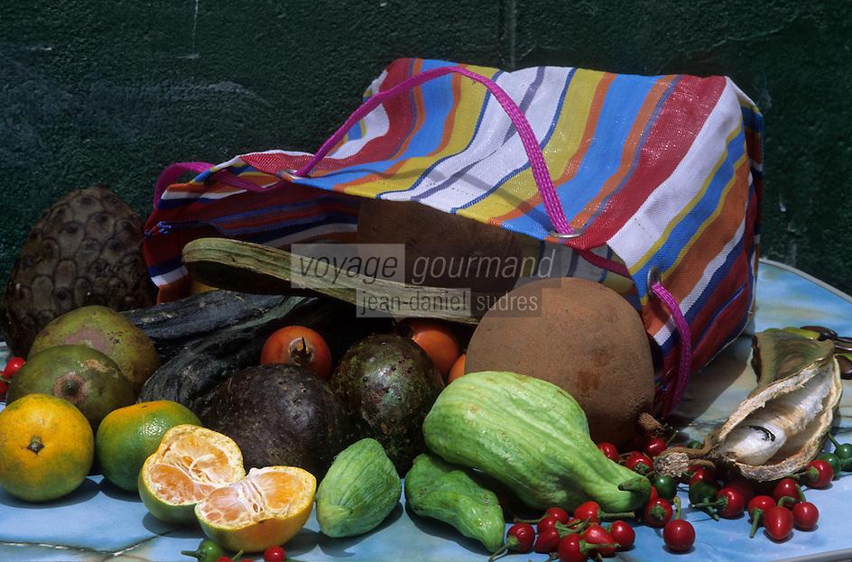 Amérique/Amérique du Sud/Pérou/Lima : Fruits exotiques : Anones, tamarillos, goyaves, etc.