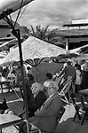 Mazatlan, Mexico. An older couple enjoying winter sunshine. Mexico.  1973