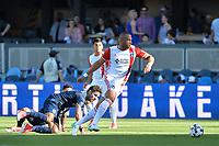 San Jose, CA - Saturday June 17, 2017: Victor Bernardez during a Major League Soccer (MLS) match between the San Jose Earthquakes and the Sporting Kansas City at Avaya Stadium.