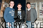 "Movie Fundraising Night : Attending the movie fundraising night at St. John's Arts centre, Listowel on Friday night last were Brian O'Connor who directed the film ""Message"",  Bertie Brosnan who directed "" Jacob Wrestling with an Angel"" and Joe Mullins who acted in the film ""Sineater""."