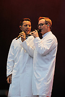 LONDON, ENGLAND - JULY 10: Lee Latchford-Evans and Ian &quot;H&quot; Watkins of 'Steps' performing at Kew the Music, Kew Gardens on July 10, 2018 in London, England.<br /> CAP/MAR<br /> &copy;MAR/Capital Pictures