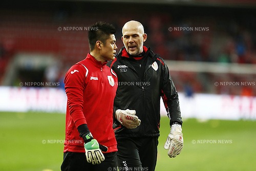 "Eiji Kawashima (Standard), APRIL 16, 2013 - Football / Soccer : Belgian ""Jupiler Pro League"" Play-off match between Standard de Liege and KRC Genk at the Stade Maurice Dufrasne in Liege, Belgium. (Photo by AFLO)"