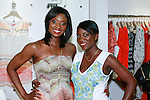 (left) Lola Ogunnaike, Arise 360 contributor; and sister (right) Nikki Ogunnaike, Glamor.com Style Editor, co-host the African Health Now - Fashion Fete event, at the Tracy Reese store on 641 Hudson Street, June 20, 2013.