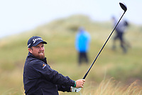 Shane Lowry (IRL) on the 8th tee during the preview of the the 148th Open Championship, Portrush golf club, Portrush, Antrim, Northern Ireland. 17/07/2019.<br /> Picture Thos Caffrey / Golffile.ie<br /> <br /> All photo usage must carry mandatory copyright credit (© Golffile | Thos Caffrey)