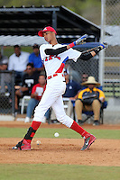 Pedro Gonzalez participates in the International Prospect League Showcase at the New York Yankees academy in Boca Chica, Dominican Republic on January 24, 2014 (Bill Mitchell)