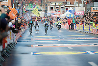 Wout Poels (NLD/SKY) and  Michael Albasini (SUI/Orica-GreenEDGE) sprinting to the finish<br /> <br /> 102nd Li&egrave;ge-Bastogne-Li&egrave;ge 2016