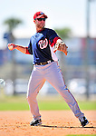 1 March 2010: Washington Nationals' infielder Eric Bruntlett takes infield drills during Spring Training at the Carl Barger Baseball Complex in Viera, Florida. Mandatory Credit: Ed Wolfstein Photo