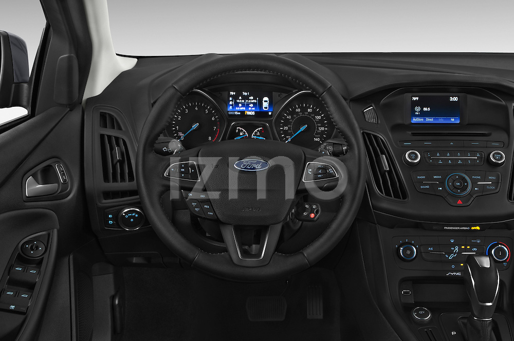 Car pictures of steering wheel view of a 2015 Ford Focus Trend 5 Door Hatchback 2WD Steering Wheel