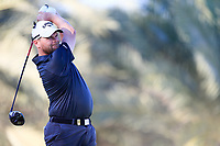 David Drysdale (SCO) on the 14th tee during the 2nd round of the Abu Dhabi HSBC Championship, Abu Dhabi Golf Club, Abu Dhabi,  United Arab Emirates. 17/01/2020<br /> Picture: Fran Caffrey   Golffile<br /> <br /> <br /> All photo usage must carry mandatory copyright credit (© Golffile   Fran Caffrey)